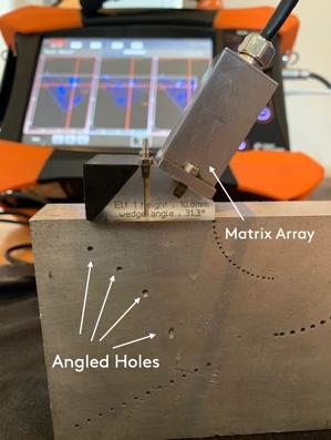 Matrix-Array-Angled-Holes
