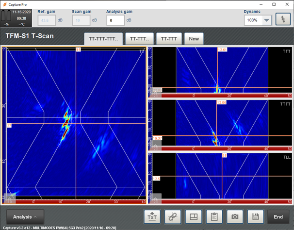 TFM2-S1-T-Scan-Multi-group-and-Multi-mode-Configurations-for-V-Weld-Plate-with-Defects-2-2